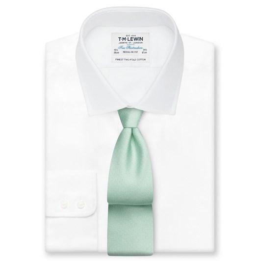 T.M.Lewin Plain Panama Mint Tie