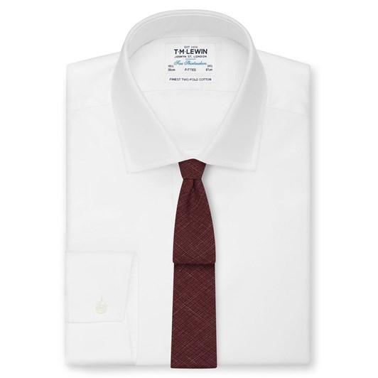 T.M.Lewin Wool Burgundy Tie