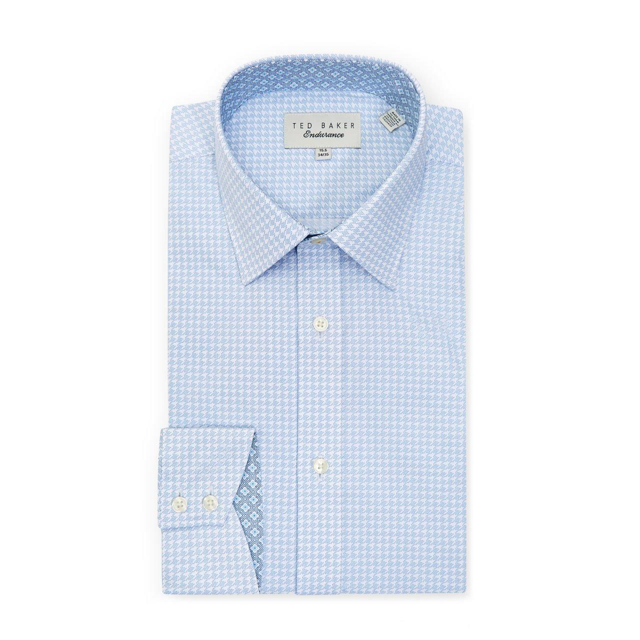 Ted Baker GRAHITE Houndstooth Endurance Shirt