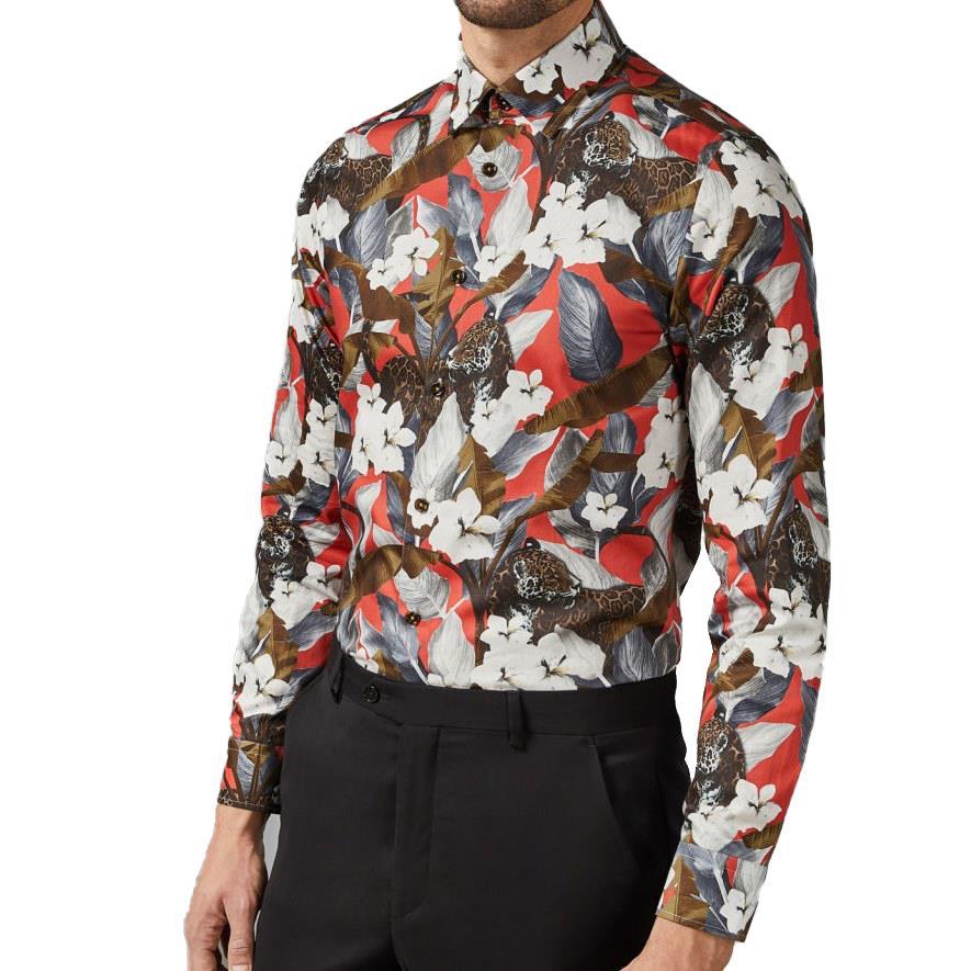 Ted Baker LEPFLO Long Sleeve Floral Leopard Shirt