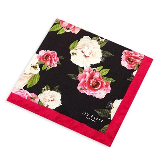 Ted Baker ROSEPOK Rose Print Pocket Square