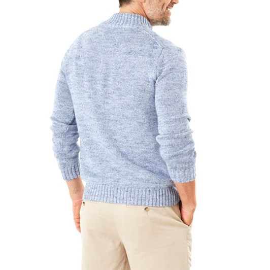 Gazman Chunky Button Neck Knit