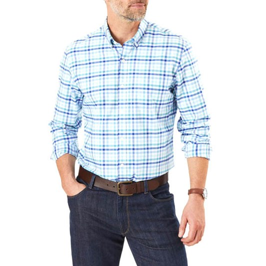 Gazman Tailored Fit Easy Care Check Shirt