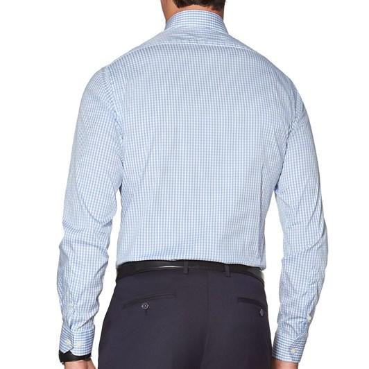 T.M.Lewin Gingham Check Blue Shirt