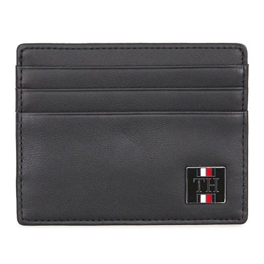 Tommy Hilfiger Leather Plaque Logo Card Holder