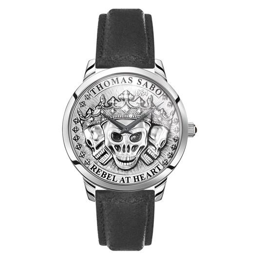 Thomas Sabo Men's Watch Rebel Spirit 3D Skulls - Silver