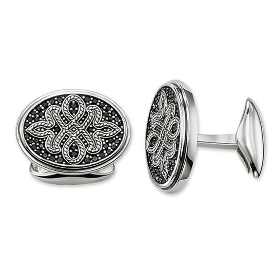 Thomas Sabo Cufflinks Diamond Love Knot