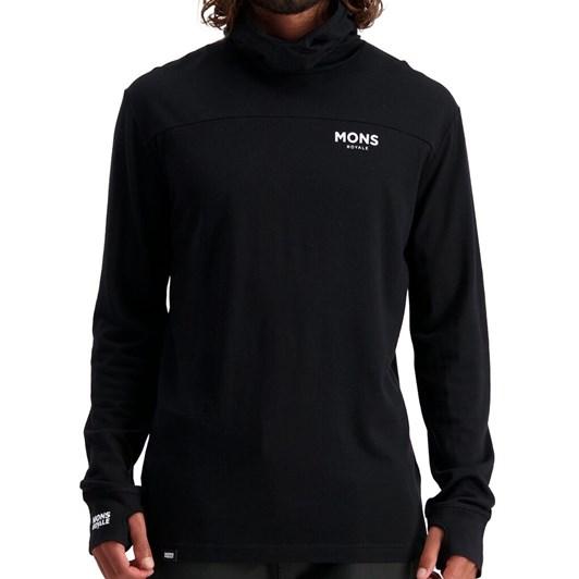 Mons Royale Yotei Powder Hood Long Sleeve