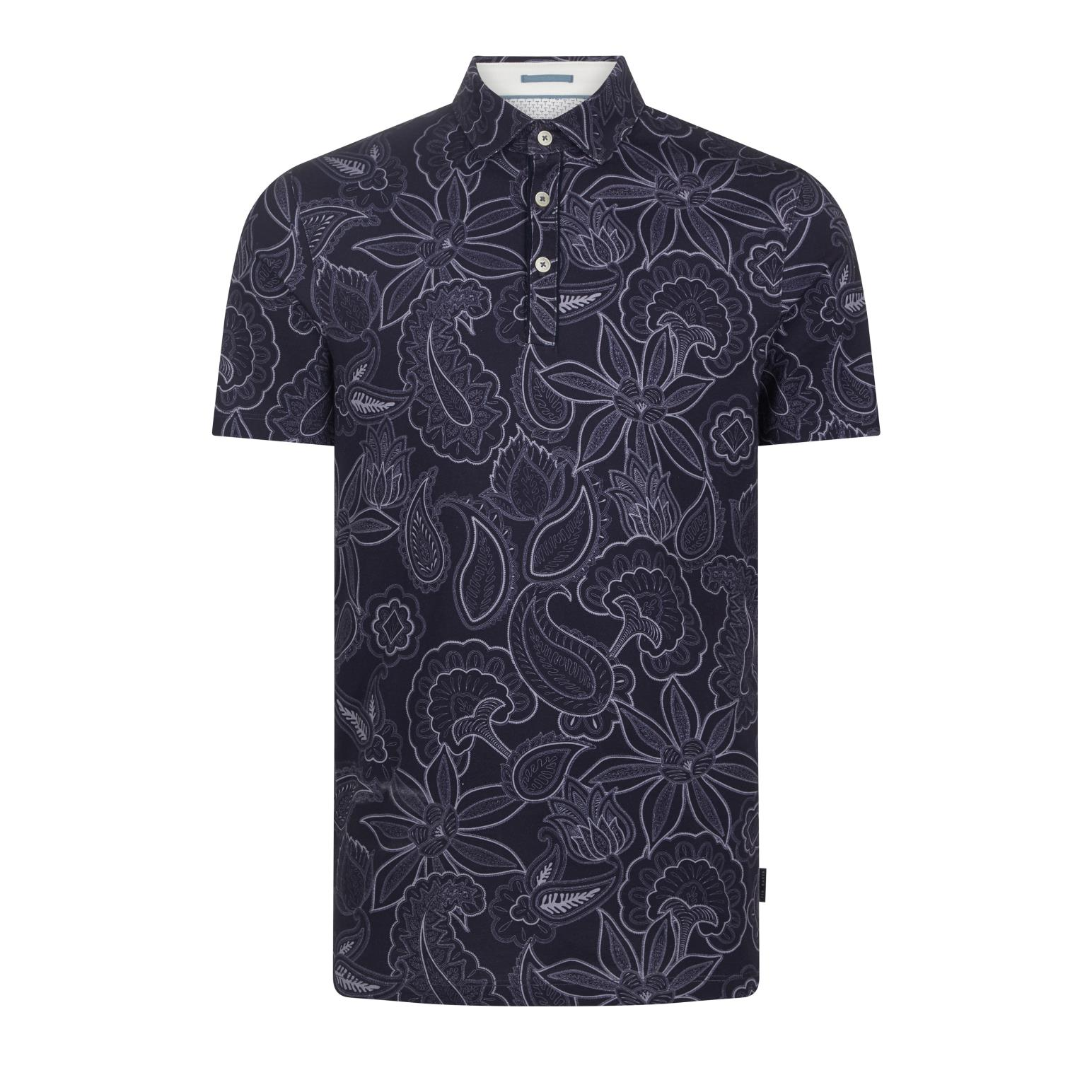 Ted Baker Short Sleeved Paisley Printed Polo