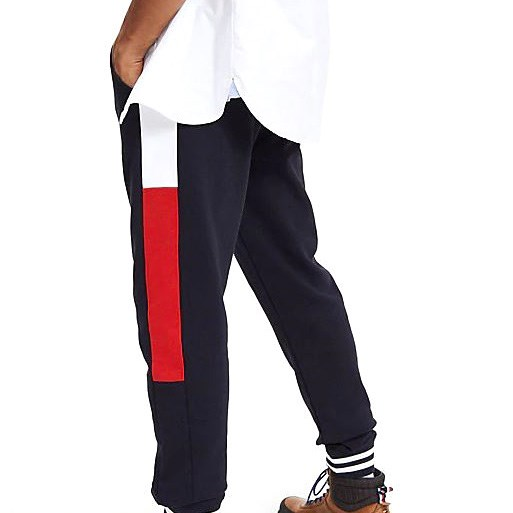 Tommy Hilfiger Pure Cotton Colour-Blocked Joggers