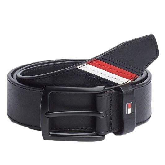 Tommy Hilfiger Denton Stripe Leather Belt