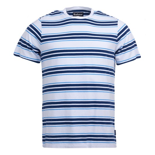 Barbour Deck Stripe Tee White