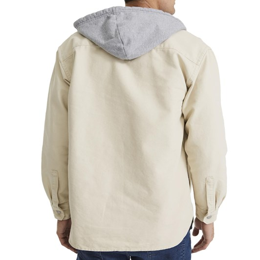 Levis Hooded Jackson Overshirt Fog