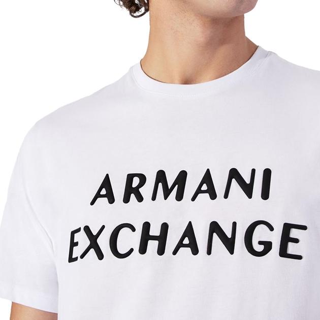 Armani Exchange Embossed Logo T-Shirt - 1100 white