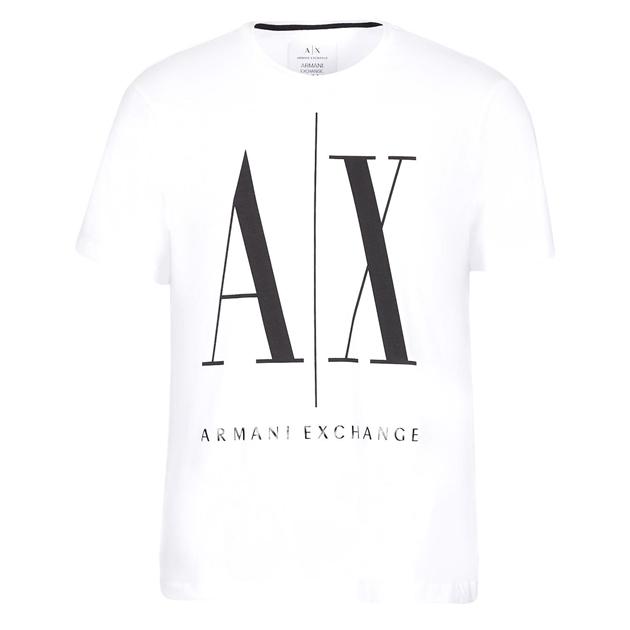 Armani Exchange Icon Logo Tee - 5100 white print