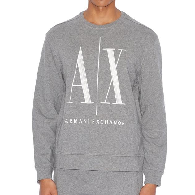 Armani Exchange Icon Logo Sweatshirt - 3930 bc09 grey