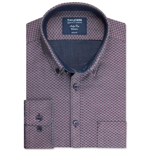 T.M.Lewin Double Sided Indigo Shirt