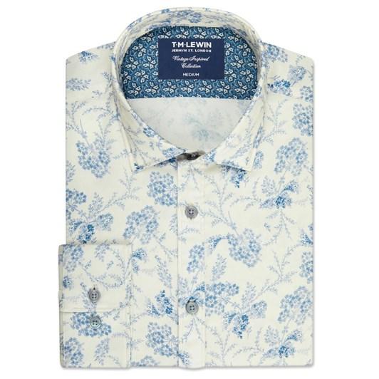 T.M.Lewin Vintage Floral Print Shirt