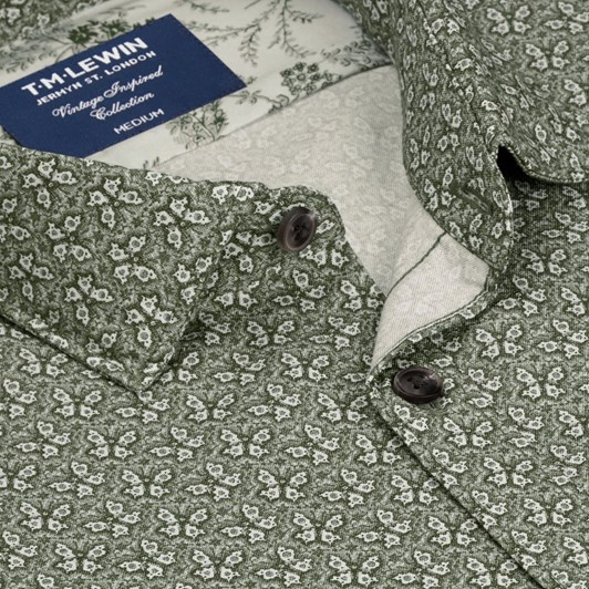 T.M.Lewin Vintage Butterfly Print Shirt