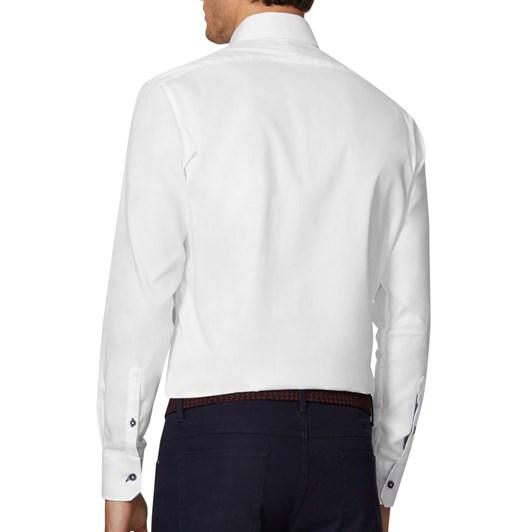 T.M.Lewin Plain Twill White Shirt