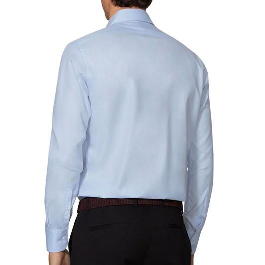 T.M.Lewin Plain Twill Light Blue Shirt