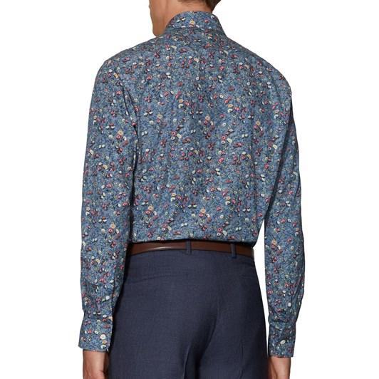 T.M.Lewin Liberty Mina Blue Pink Shirt