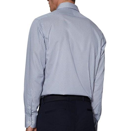 T.M.Lewin Geo Swirl Print White Shirt