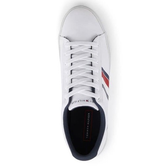 Tommy Jeans essential stripes Detail sneaker - white