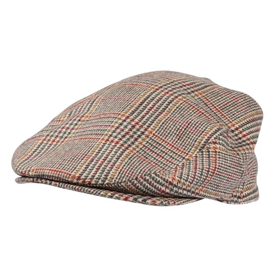 Hills Hats  Traditional Cheesecutter - Woven Patchwork & Chessington