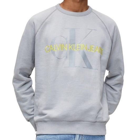 Calvin Klein Veg Dye Mono Cw Nk Ps7 Gry Mns Swt
