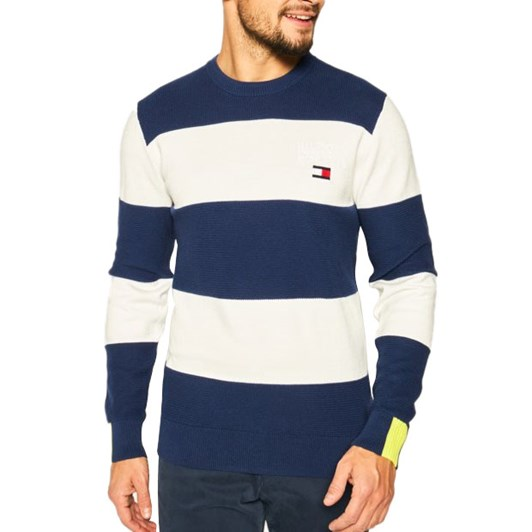 Tommy Hilfiger Neon Tipped Striped Sweater