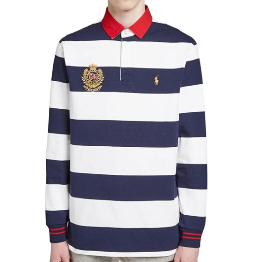 Polo Ralph Lauren Long Sleeve Embroidered Crest Rugby Jersey