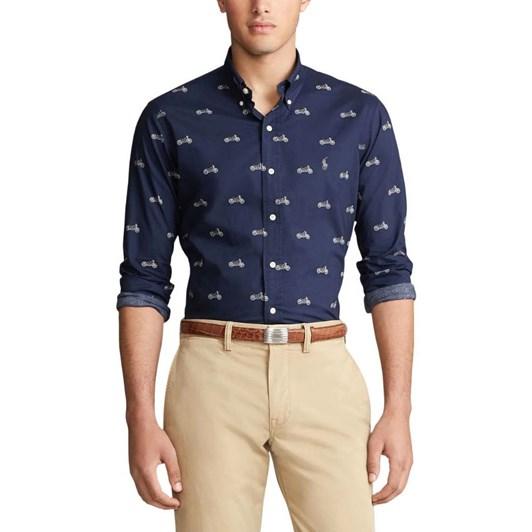 Polo Ralph Lauren Slim Fit Moto-Print Shirt
