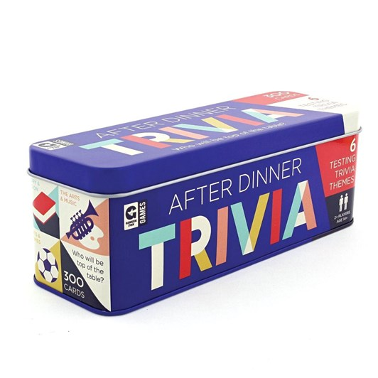 Ginger Fox After Dinner Trivia Cards In Tin