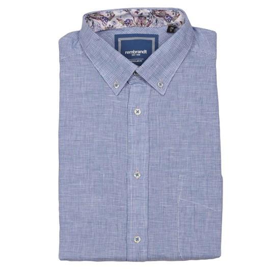 Rembrandt Awaroa Blue Houndstooth Shirt