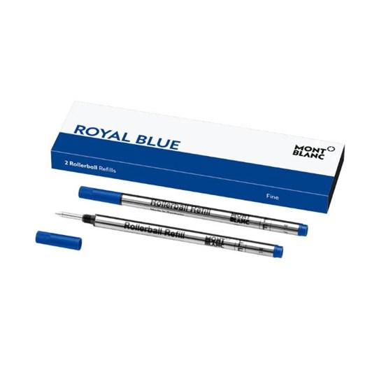 Montblanc - 2 x Rollerball Refills (F) Royal Blue