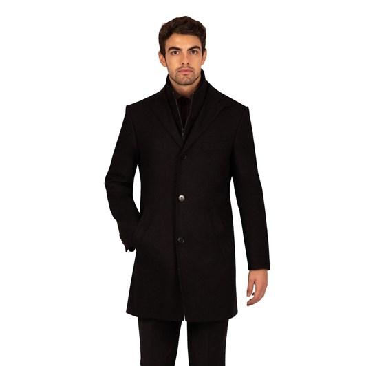 Rembrandt Compton Slim Fit Black Coat
