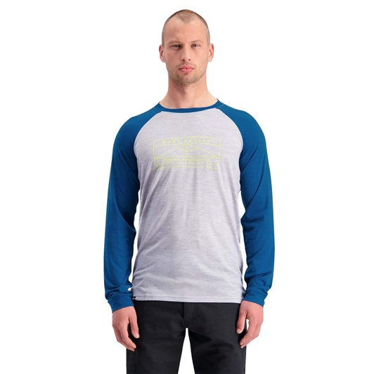 Mons Royale Mens Icon Raglan LS flag