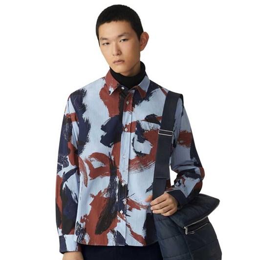 KENZO Brushed Camo Casual Shirt