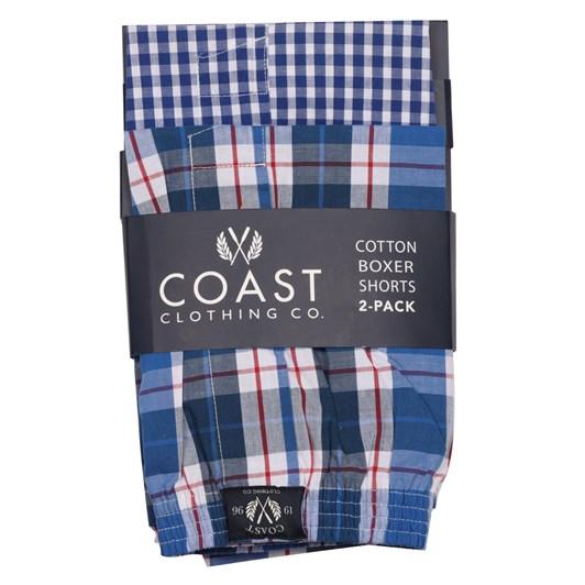 Coast Woven Check Boxer Shorts - 2 Pack
