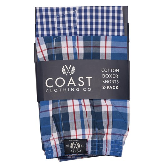 Coast Woven Check Boxer Shorts - 2 Pack
