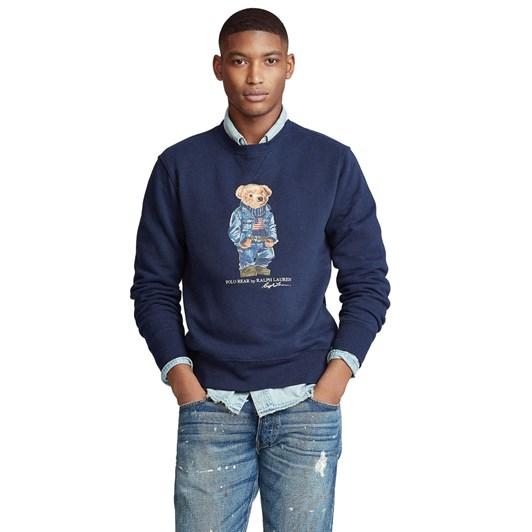 Polo Ralph Lauren Denim Bear Fleece Sweatshirt