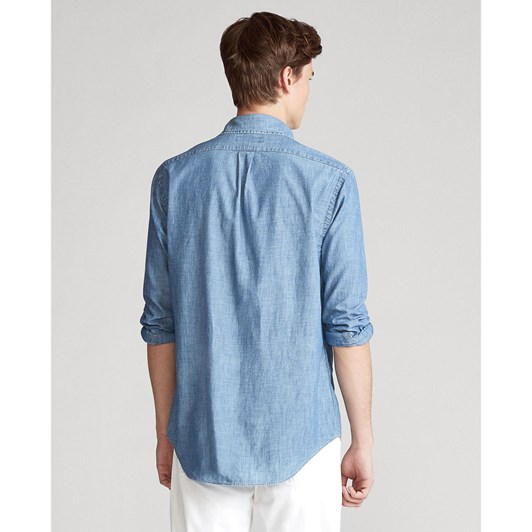 Polo Ralph Lauren Slim Fit Indigo Chambray Shirt