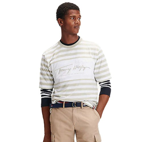 Tommy Hilfiger Signature Stripe Relaxed Fit Tee