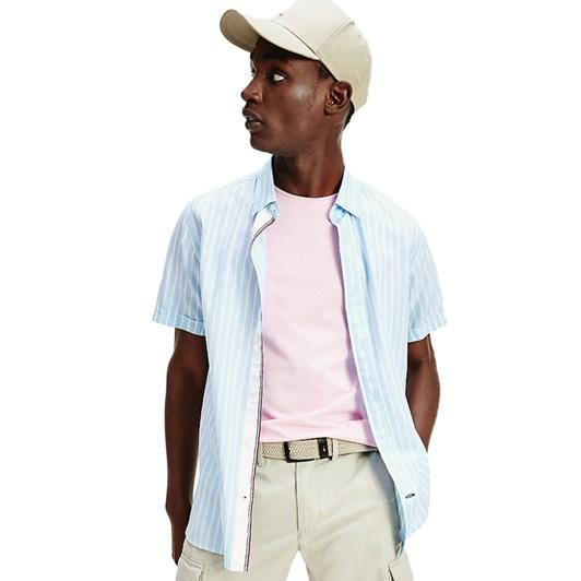 Tommy Hilfiger Organic Co/Li Stripe Shirt S/S