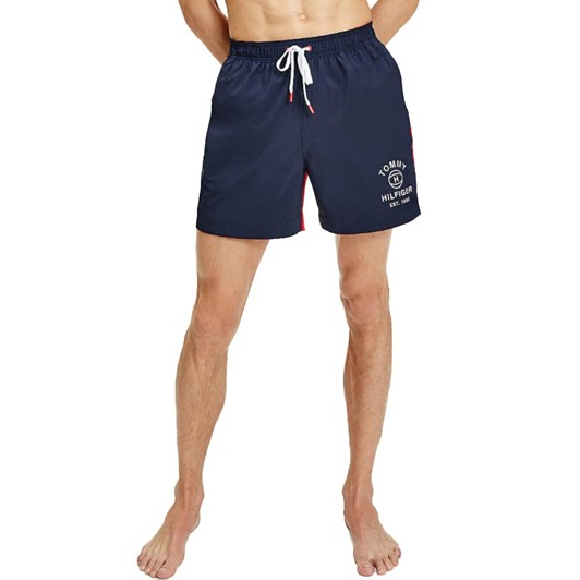 Tommy Hilfiger Drawstring Colour-Blocked Slim Fit Swim Shorts