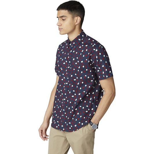 Ben Sherman Ss Handpainted Print Shirt