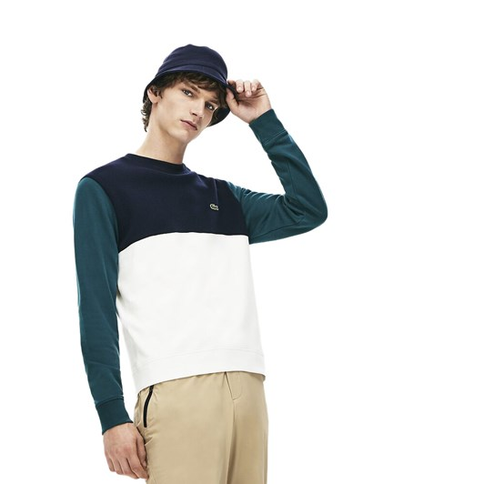 Lacoste Colour Block Crew Neck Sweat