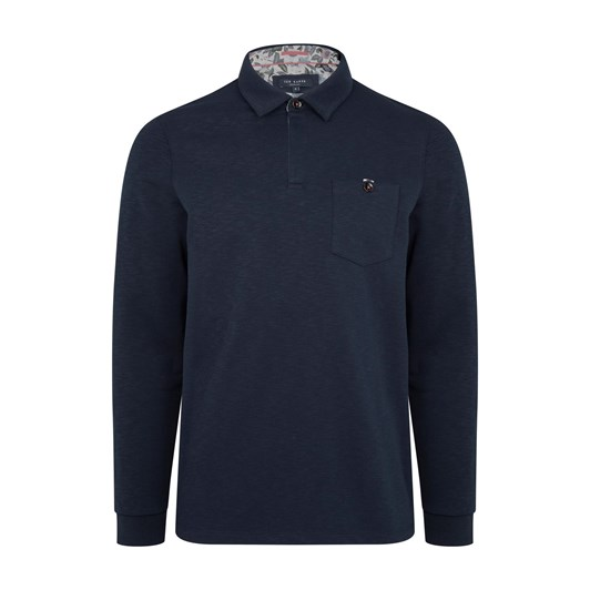 Ted Baker Excer Long Sleeve Slubby Polo