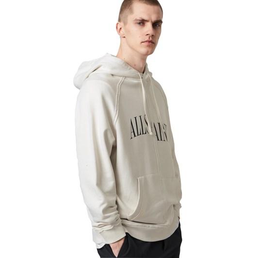 AllSaints Diverge Misaligned Pullover Hoodie